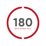 Recover 180 red outline logo